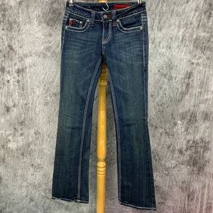 Vigoss Bootcut Jeans Sz 0 Dark Wash